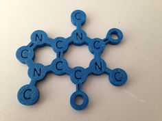 This is the caffeine molecule, you can use it as a coffee mug placemat by ejo60.
