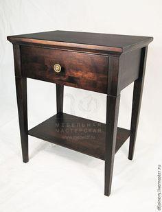 Купить Тумба прикроватная из дерева - прикроватный столик, прикроватная тумбочка, тумба, массив дерева, массив