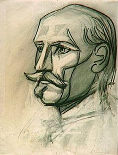 Pablo Picasso, 1945 Portrait de Paul Langevin on ArtStack #pablo-picasso #museumweek