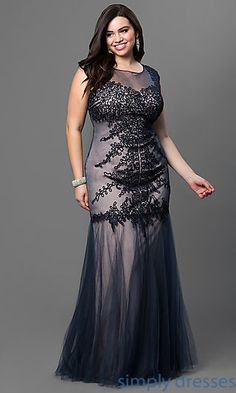 Long Prom Dress in Plus Sizes with Embroidery. Prom Dresses 2015Gala DressesParty  DressesFormal ... 01455df40547