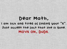 Dear Math.