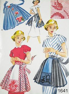 Vintage Apron Pattern  McCall's 1641  Vtg 1951 by ThePatternSource, $35.00