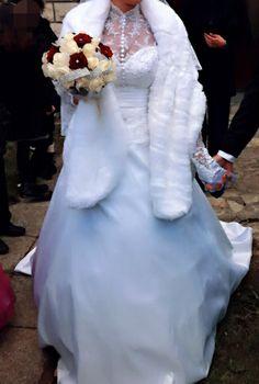 Robe de mariée d'occasion effet satin duchesse - Hauts de Seine