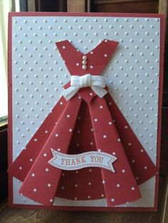 Dress Pattern by mommacharles - Cards and Paper Crafts at Splitcoaststampers ....follow site to the tutorial