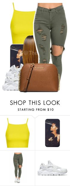 """7/14/16"" by lookatimani ❤ liked on Polyvore featuring Topshop, NIKE and MICHAEL Michael Kors"