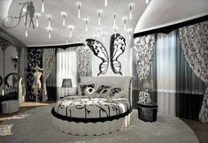 Jugendzimmer gestalten – 100 faszinierende Ideen - mädchenzimmer gestalten schmetterling phantasievolle gestaltung