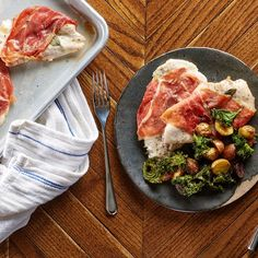 Sheet pan Chicken Saltimbocca:  Fancy enough for company but easy enough for a weeknight, this complete Italian-inspired meal is cooked on two baking sheets, making cleanup a breeze.