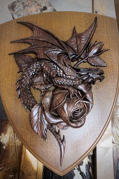 Sculpture Art, Sculptures, Calligraphy Drawing, Beautiful Dark Art, Sugar Skull Tattoos, Viking Art, Art Carved, Dragon Design, Indigenous Art