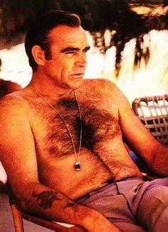 Chest hair - Sean Connery always kept a healthy plumage