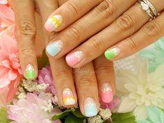 Tropical summer nail art by aya1gou, via Flickr