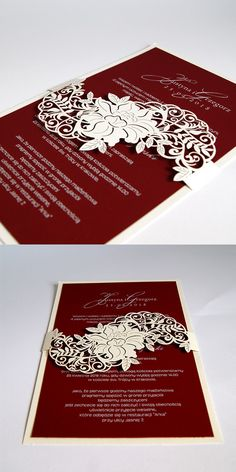 wedding cards, invitation, lasser, flowers, red