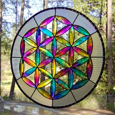 The GRAND DADDY of all sacred geometry is the Flower of Life featuring 90 petals. There are other versions called the Seed of Life with 42 petals and the Fruit of Life with 24 petals. I offer the panels for sale as well as a lesson plan/kit to make the dichroic glass bevels and jewels. contact me at askdichroglassman@yahoo.com -> Great tools for light-workers.. Flower of Life T-Shirts, V-necks, Sweaters, Hoodies & More ONLY 13$ EACH! LIMITED TIME CLICK ON THE PIC