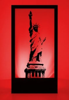 Event Prop Hire: Statue of Liberty Silhouette Panel