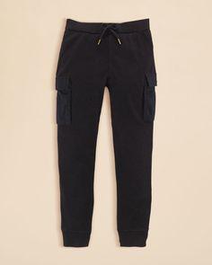 Ralph Lauren Girls' Waffle Knit Cargo Pants - Sizes S-xl