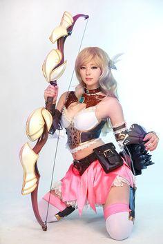 Model: DOREMI SpCats (도레미 - 이혜민) Lee Hye-Min    SpiralCats Cosplay: [Changyou] E.O.S   Class: Archer    Fantasy Costume Armour    #Doremi #도레미 #이혜민 #SpCats #SpiralCats #Cosplay #Chanyou #Archer #Fantasy #Costume #Armour    Pin by @settimamas