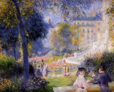 Place de la Trinite, 1886 by Pierre-Auguste Renoir, Rejection of Impressionism. Post-Impressionism. genre painting