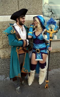 Crystal Maiden and Kunkka from the MMOG Defense of the Ancients 2