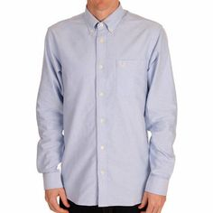 Fred Perry Mens Oxford Shirt www.ark.co.uk/male #new #ss14 #fredperry #blue #shirt