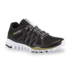6c9b2baf7e4d Reebok Women s RealFlex Black Gold Athletic Shoe Athletic Women