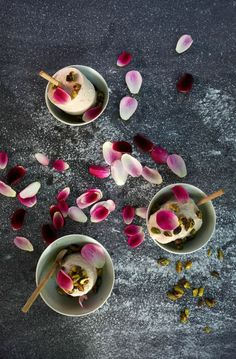 Edible Flowers: Rosewater Ice Cream Pops | Rue