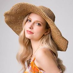 b798f776 30 Best Striped straw sun hat for women images | Sun hats for women ...