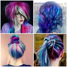 capelli colorati stile punk indie fatti da solo