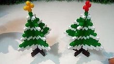 Albero Di Natale 3D Con PYSSLA (Hama Beads) Christmas Tree Perler Bead Tutorial !