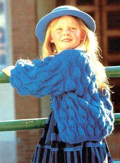 PDF Baby Girl Knitting Pattern Belle Stitch Bobble Cardigan