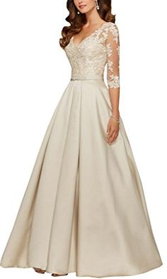 Dressyonly Women's Mother of the Bride Dresses With 3/4 Sleeve Size 4 US Champagne Dressyonly http://www.amazon.com/dp/B0197WV1UY/ref=cm_sw_r_pi_dp_ubmIwb0736AK1