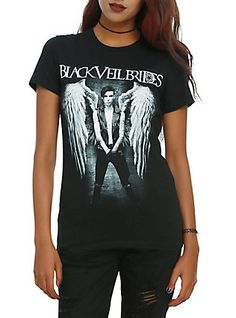 Black Veil Brides Andy Angel Girls T-Shirt,Hot topic.com if u love me one of you will get it..............
