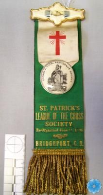 From the Catholic Total Abstinence Society and the St. Patrick's League of the Cross. Cape Breton, The St, Big Day, Catholic, Ribbon, Museum, Christmas Ornaments, Holiday Decor, Tape