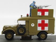 EDICOLA BONDCOL127 Skala: 1/43  DODGE M-43 TRUCK AMBULANCE 1964 - 007 JAMES BOND - GOLDFINGER BROWN