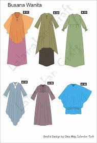 Creativity Tutorial: Pesan Pola Busana Dress Design Patterns, Dress Design Sketches, Fashion Design Sketches, Street Hijab Fashion, Muslim Fashion, Model Kebaya, Abaya Designs, Fashion Project, Little Girl Dresses