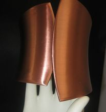 Egyptian Revival Style Clamper Copper Bracelet available at Rhinestone salad in Ruby lane