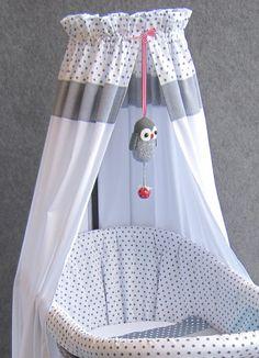 Wieg grijs met ster by studio zanoni