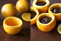 Campfire Brownies in an orange - Can't wait to try this...