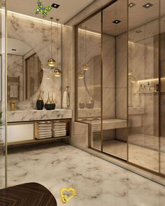 badbifunow Interior ideas for a luxury decor -  It will be your ultimate tool for interior design. | www.wohn-designtr … Beautiful living room id - #decor #HomeInteriorDesign #ideas #interior #luxury #ModernHouseDesign #WebDesign<br> Bad Inspiration, Bathroom Inspiration, Fitness Inspiration, Modern Interior Design, Home Design, Design Ideas, Design Design, Interior Ideas, Luxury Interior