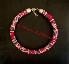 Bead Crochet U16 Rope Jewelry, Fabric Jewelry, Diy Jewelry, Beaded Jewelry, Handmade Jewelry, Beaded Necklace, Jewelry Making, Beaded Bracelets, Rope Necklace