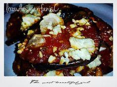 Οι λιχουδιές της Μαριφάνης: Μελιτζάνες με ντομάτα και φέτα στο φούρνο! ! !