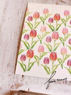 消しゴムはんこ : ふわふわ堂 Homemade Stamps, Eraser Stamp, Stamp Printing, Mft Stamps, Visual Diary, Card Tutorials, Blue Bird, Printmaking, Diy And Crafts