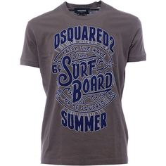 Dsquared2 Short Sleeve T-Shirts (€123) ❤ liked on Polyvore featuring men's fashion, men's clothing, men's shirts, men's t-shirts, brown, mens short sleeve shirts, mens short sleeve t shirts and mens brown shirt
