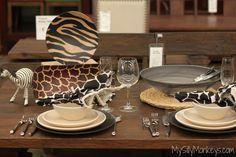 A gorgeous table setting using #WorldMarket's Kingdom Animalia collection.