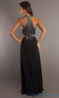 Black Formal Gown with Beaded cruise time