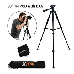 Durable Pro Series 60 inch Full size Tripod with 3 way PanHead Bubble level indicator 3 Section Aluminum alloy lock in legs for Canon Powershot SX600 HS SX510 HS SX510 HS SX500 IS SX280 HS SX260 HS SX170 IS SD1300 IS SD1200 IS SD980 SD770 SD1300 D30 D20 D10 IXUS 85 IS IXUS 95 IS IXUS 200 IS G1 XG15 G16 SX50 HS SX40 HS Digital Cameras plus Convenient Backpack style Carrying Case *** You can find more details by visiting the image link.