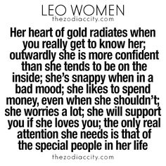 What you need to know about Leo women. For more zodiac fun facts, click here.
