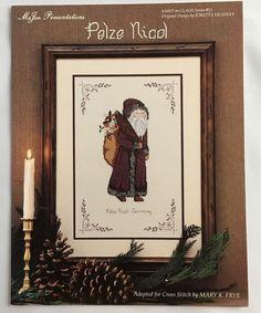 Pelze Nicol Germany Santa To Claus Cross Stitch Pattern Chart #13 Mary K Frye #MaJorPresentations #Picture