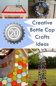20 Creative Bottle Cap Crafts Ideas