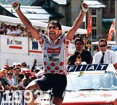 Claudio Chiappucci vince in solitario al Sestriere.. tour de France 1992.. io c'ero!!