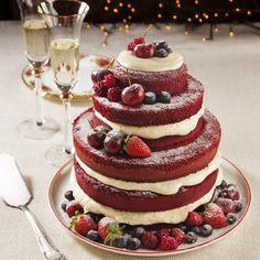 Red Velvet com Creme de Cream Cheese e Frutas Vermelhas