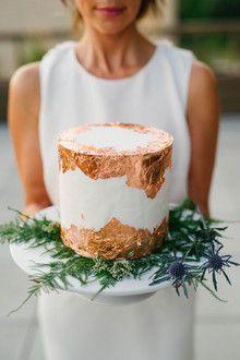 Copper foil wedding cake More